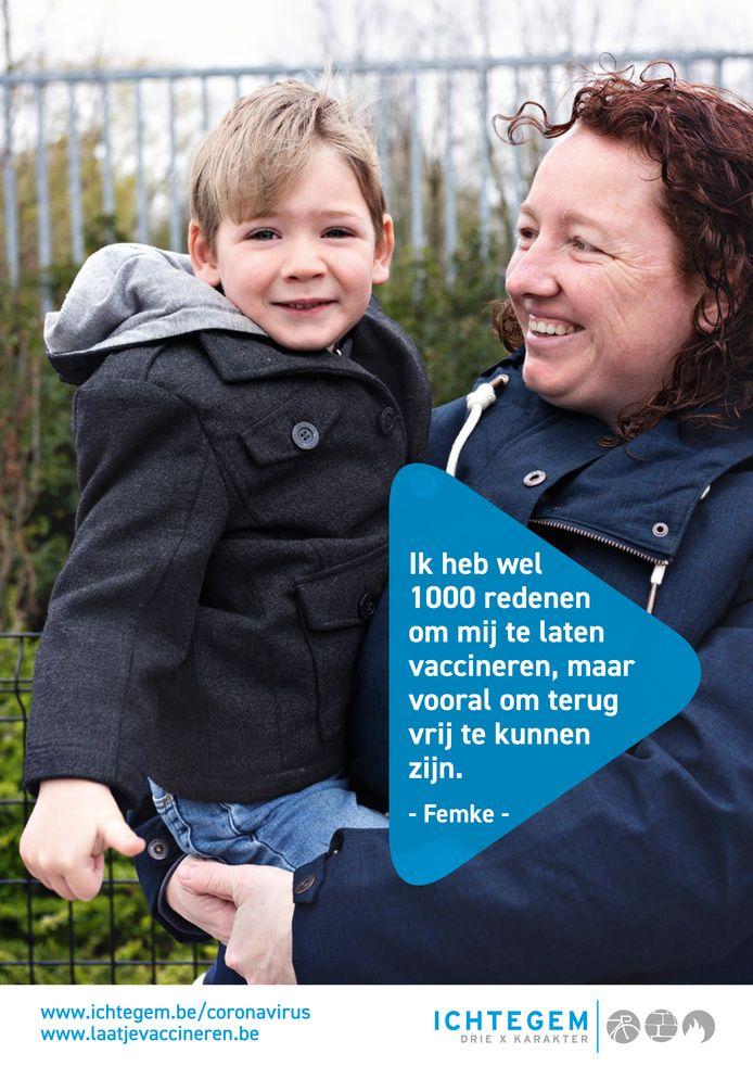 Zes inwoners van Ichtegem spelen een hoofdrol in een nieuwe vaccinatiecampagne: Femke