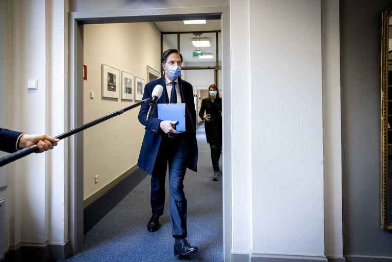 Mark Rutte (VVD) zocht in de campagne opzichtig toenadering tot Lilian Marijnissen (SP). Beeld EPA