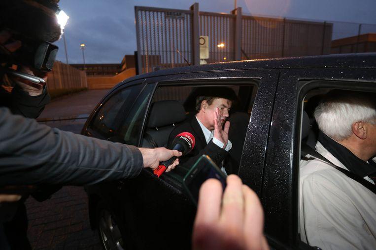 Na tien maanden cel mocht Bernard Wesphael in augustus 2014 de gevangenis van Brugge verlaten. Volgende week start zijn assisenproces. Beeld Wouter Van Vooren