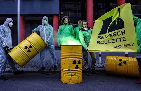 Protest tegen de kerncentrales aan de Belgische grens.
