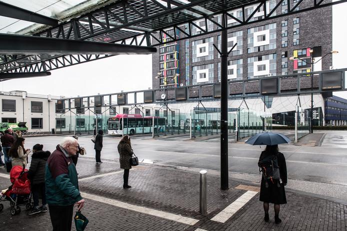 Nijmeegse buschauffeurs staakten ook in 2018 voor een betere cao, met lege bushaltes tot gevolg.