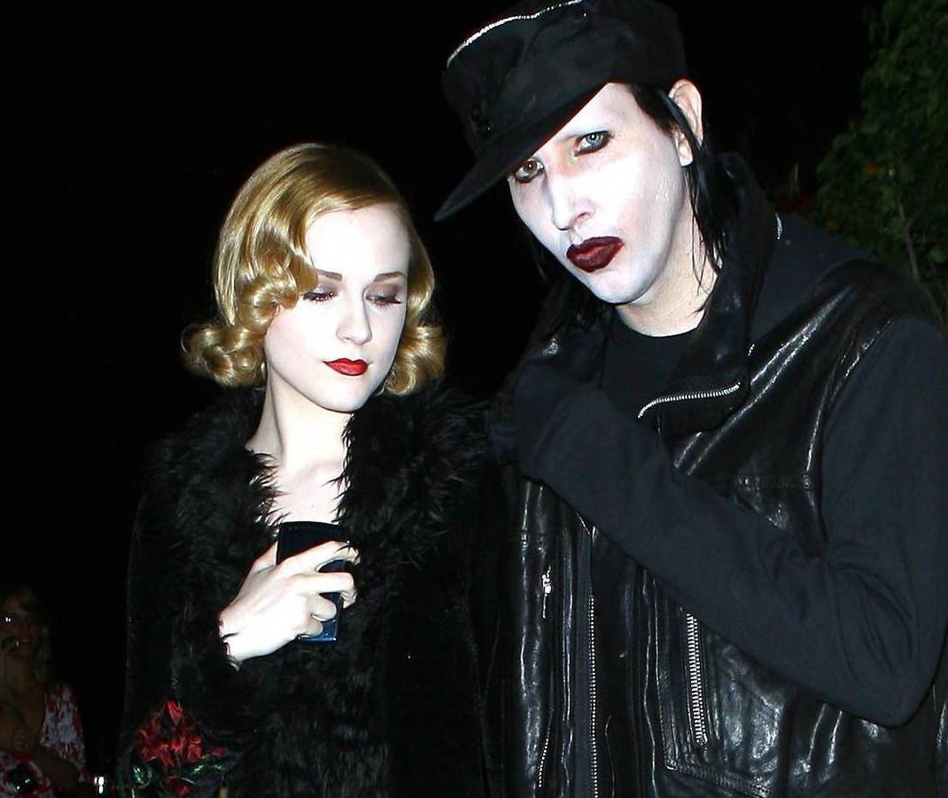Marilyn Manson en Evan Rachel Wood in 2007.