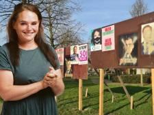Per ongeluk de verkeerde verkiezingsposter beklad: kruis over Baudet in plaats van Rutte