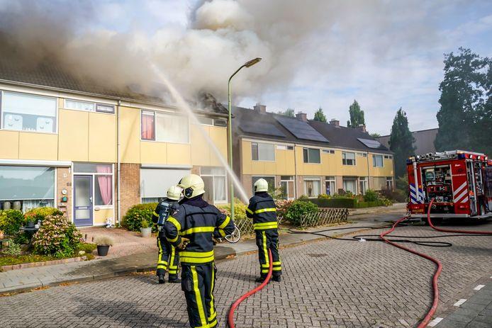 Woningbrand in Werkendam.