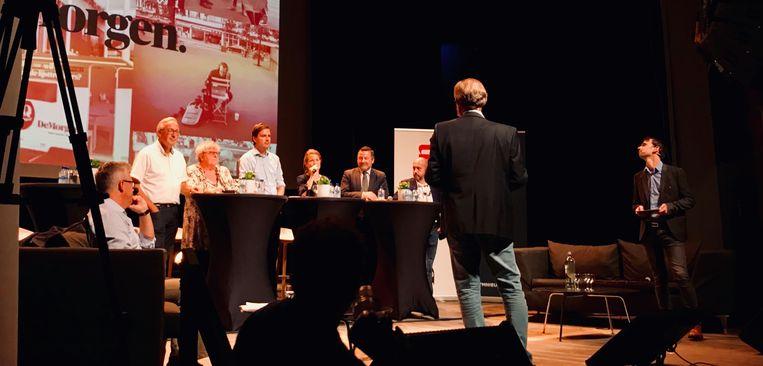 De lijsttrekkers van Gent in debat. Beeld sf