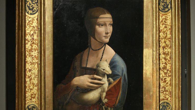 Onder de werken uit de verkochte Poolse kunstcollectie is 'Dame met de hermelijn' van Leonardo Da Vinci. Beeld EPA