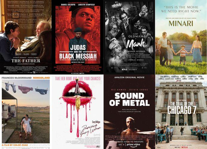 Huit films ont été retenus par l'Académie des Oscars pour briguer la récompense suprême, l'Oscar du meilleur long-métrage.