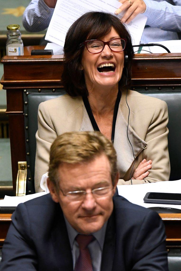 Laurette 'Mitraillette' Onkelinx (PS). Beeld Photo News