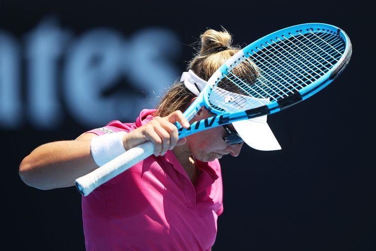 Kirsten Flipkens (WTA 75) is deze nacht uitgeschakeld in de tweede ronde van de Australian Open in Melbourne. Beeld Getty Images