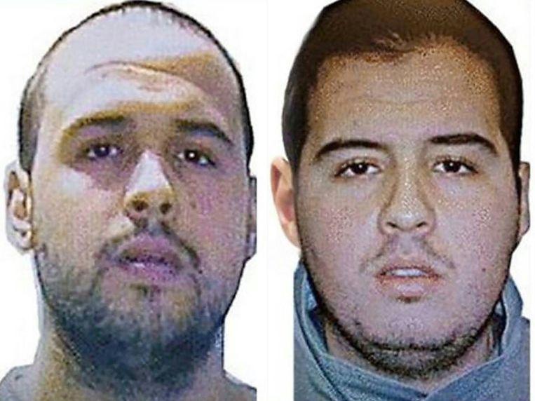 Khalid (links) en Ibrahim El Bakraoui op een foto van Interpol. Beeld Afp