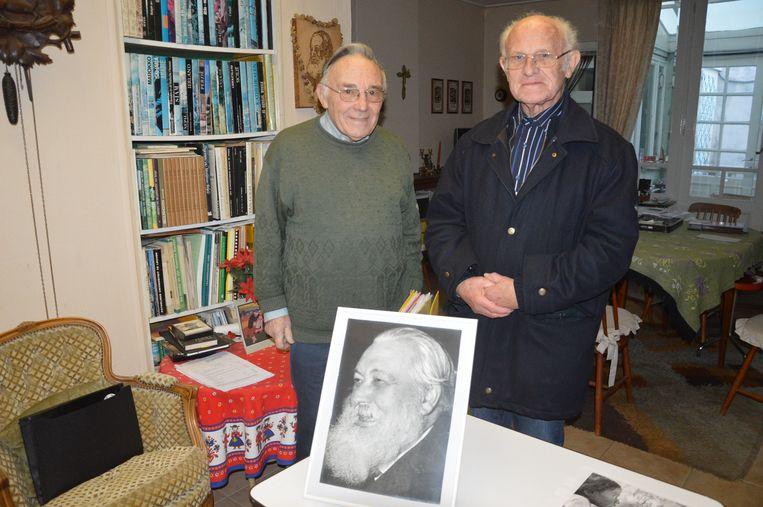 Steven Dobbelaere, de oprichter van het Dr. Hemerijckxcomité en Henri Avoux, medewerker van het eerste uur. Het comité vierde drie jaar geleden al haar 50-jarig jubileum.