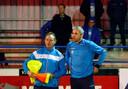 David Destorme (rechts) fungeert voorlopig als interim-trainer.