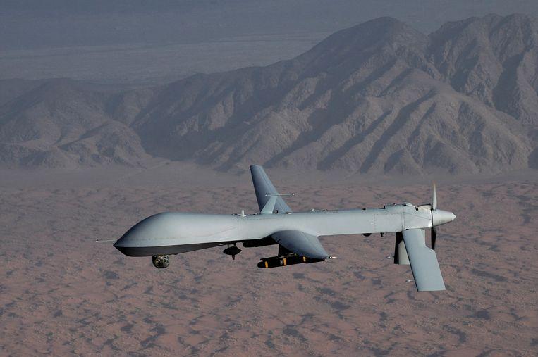 Een Amerikaanse Predator-drone. Het land zet al jaren drones in voor bombardementen. Beeld Reuters