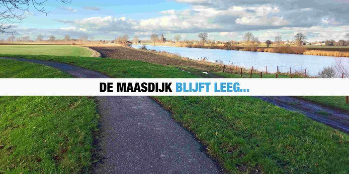 Boodschap van de organisatie op de website van De Maasdijk.