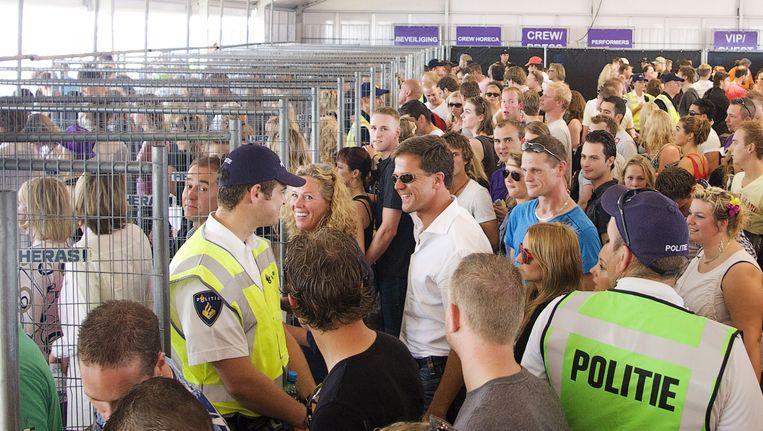 Premier Rutte bezocht vorig jaar het evenement Dance Valley. Beeld ANP