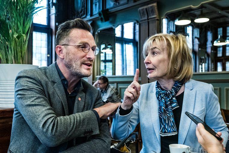Pascal Smet (sp.a) en Françoise Schepmans (MR). Beeld Tim Dirven