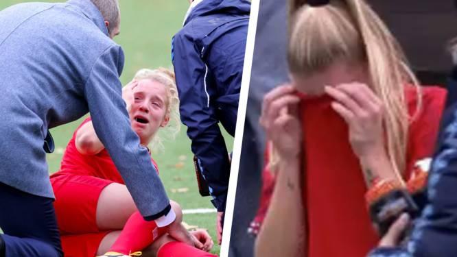 Breuk in knieschijf is harde verdict voor Elena Dhont: Red Flame schreeuwt het uit van de pijn, Twente-teamgenotes in tranen