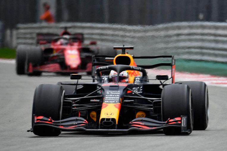 Max Verstappen tijdens de Formule 1 Russische Grand Prix  in Sotsji. Beeld AFP