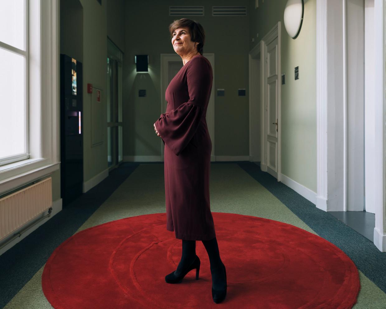 Lilianne Ploumen: 'Het aftreden van Lodewijk is nog heel dichtbij. Het is een hard vak. We waren daar echt aangedaan over.' Beeld Rebecca Fertinel