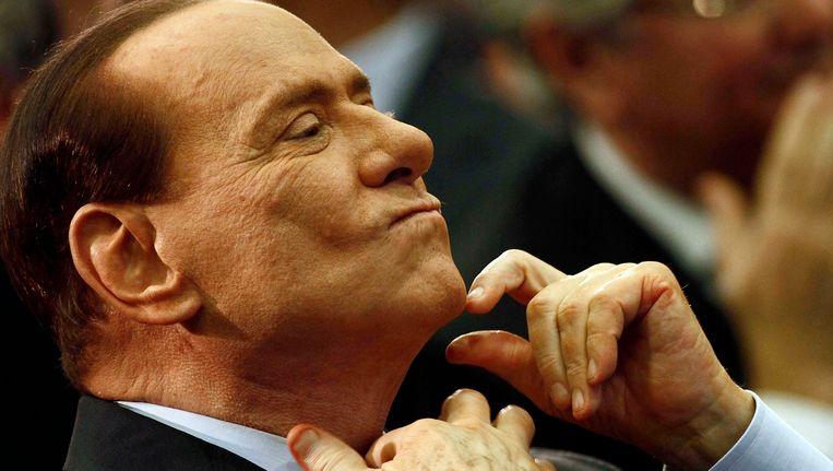 Oud-premier van Italië, Silvio Berlusconi. Beeld AP