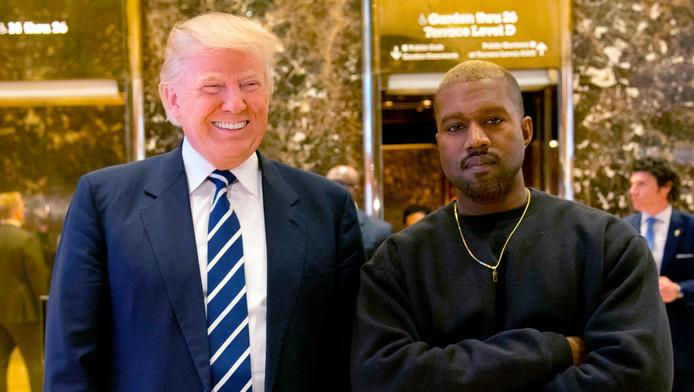 Kanye West et Donald Trump à la Trump Tower de New York, le 13 décembre 2016.