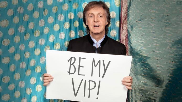 De foto die Paul McCartney bij zijn oproep plaatste. Wie wordt zijn vip?