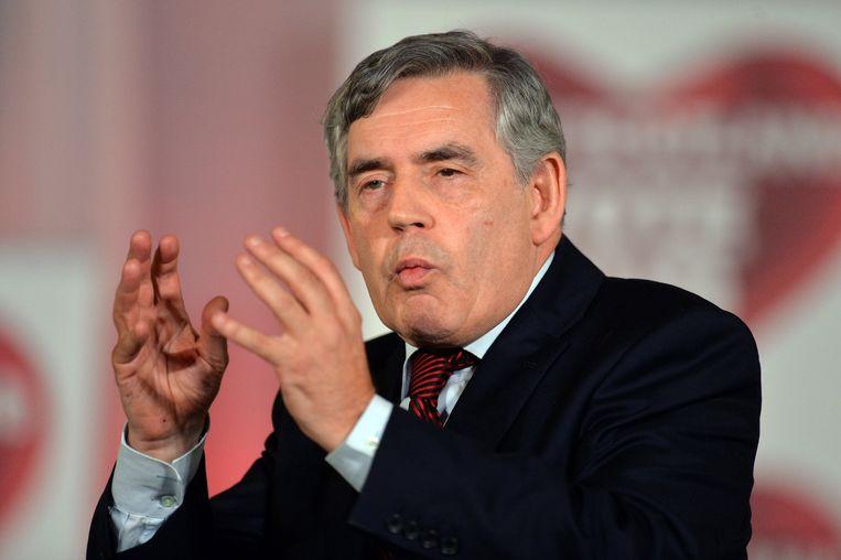 Voormalig Brits premier Gordon Brown is een van de ondertekenaars van de open brief. Beeld Photo News