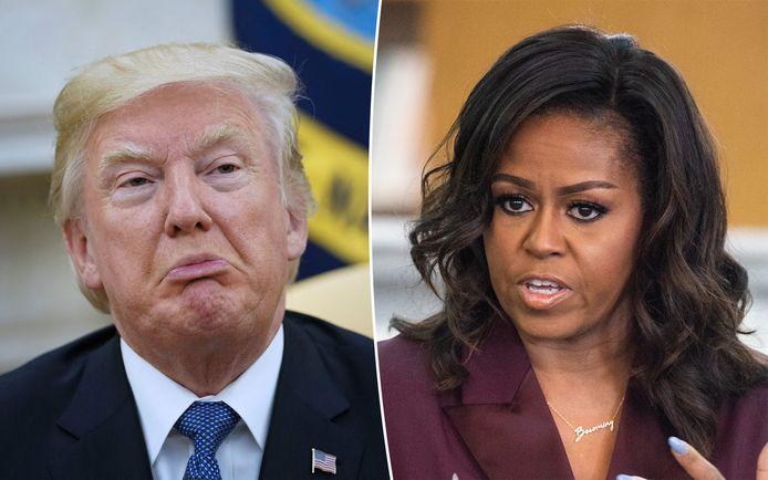 Donald Trump en Michelle Obama.