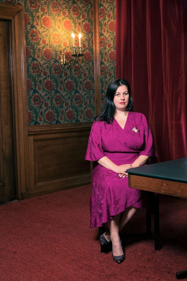 Annabel Nanninga, geportretteerd in de Eerste Kamer. Beeld Guido Benschop