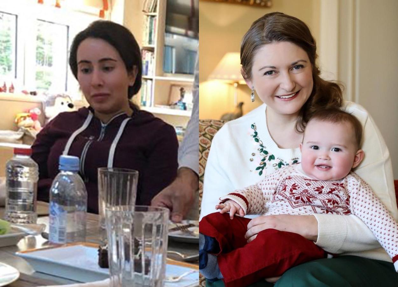 Prinses Latifa van Dubai (links) en Stéphanie van Luxemburg.