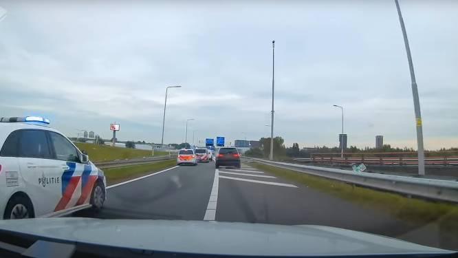 Heftige achtervolging op A4 bij Leiden: politie trekt alles uit de kast bij vluchtpoging