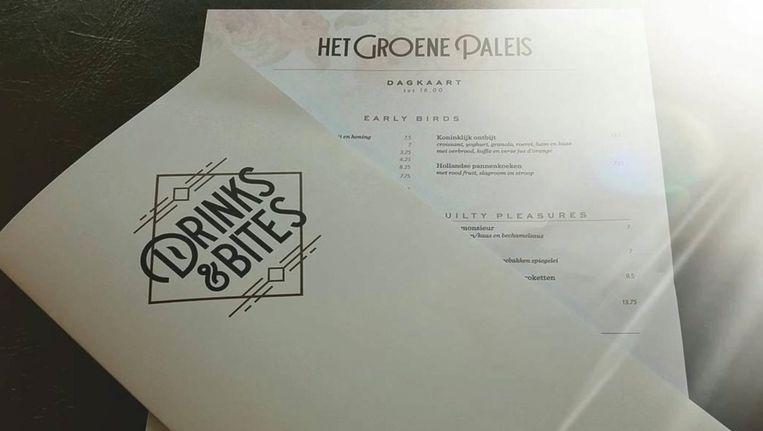 Het grandcafé is vernoemd naar een bordeel Beeld Instagram Het Groene Paleis