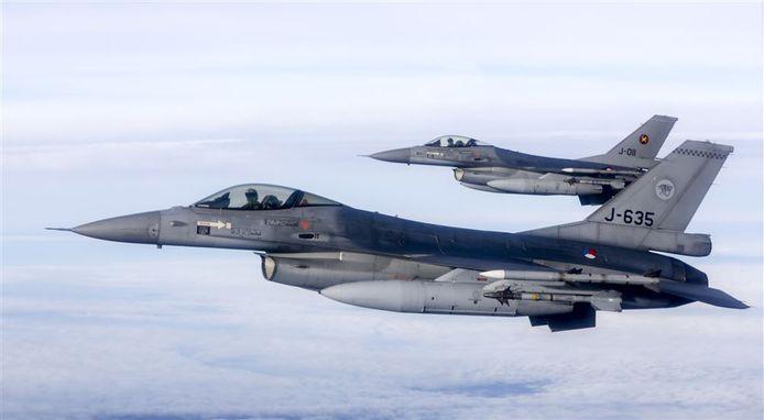 F-16's (foto ter illustratie)