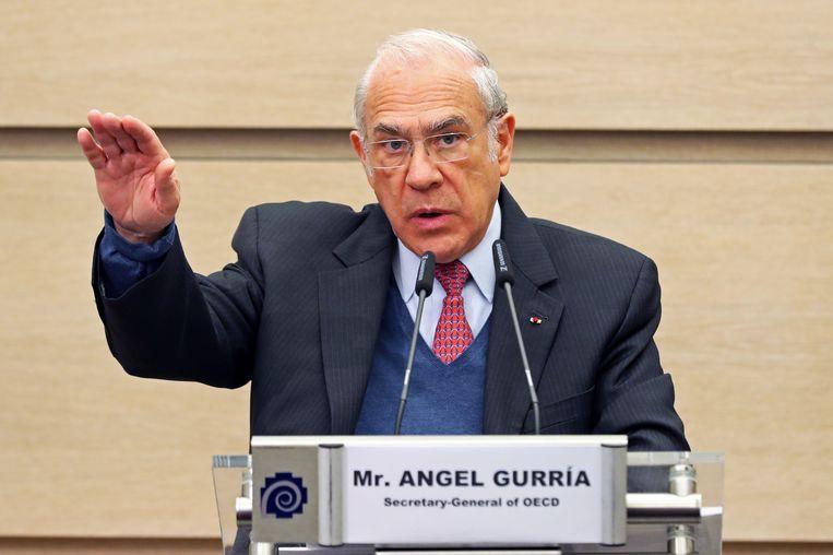 Angel Gurria, secretaris-generaal van de Oeso: 'De invloed van lobbyen wordt nog steeds onderschat.' Beeld Belga