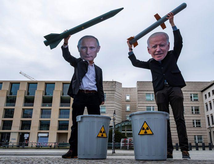 Vladimir Poetin test president Joe Biden.