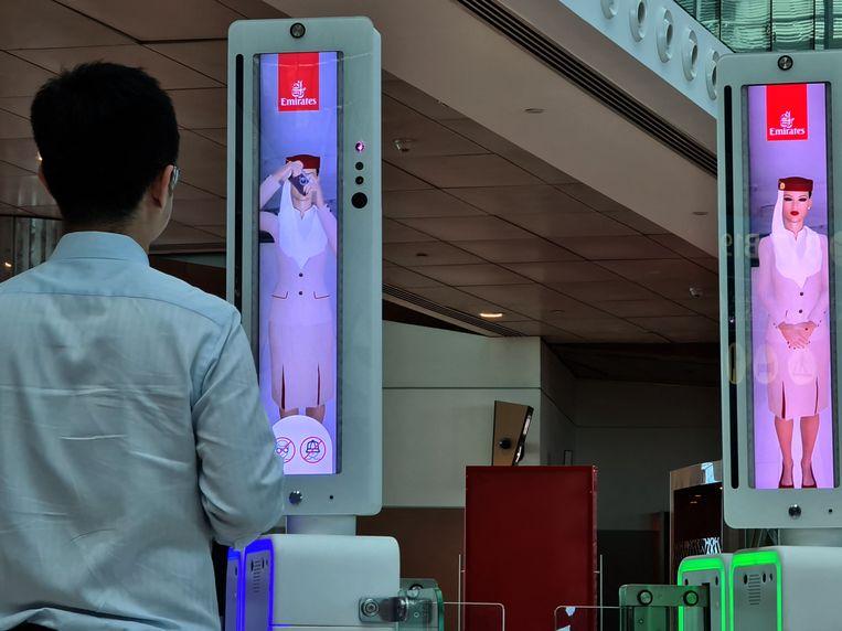 Met de nieuwe technologie is er geen paspoort meer nodig.  Beeld AFP