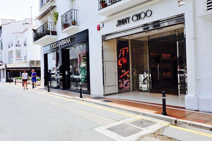 De winkelstraat van Puerto Banús.