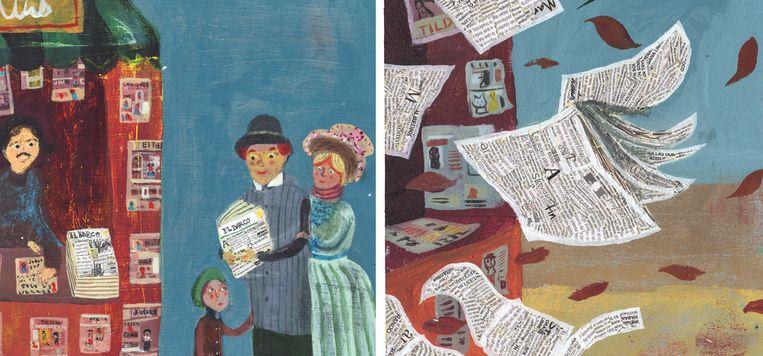Uit 'Blad in de wind' van José Sanabria & Maria Laura Diaz Dominguez. Beeld rv