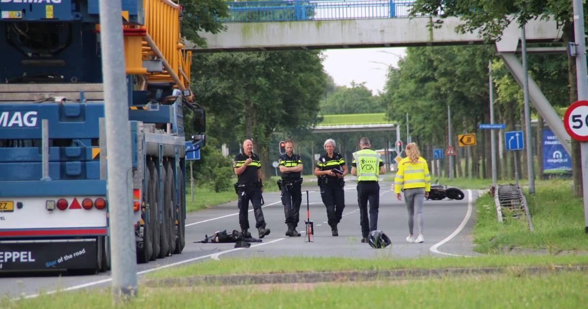 Motorrijder verongelukt op de Zuigerplasdreef in Lelystad.