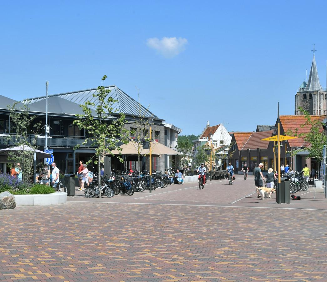 Het winkelgebied van Renesse (foto) en Zierikzee scoort landelijk bovengemiddeld op netheid.