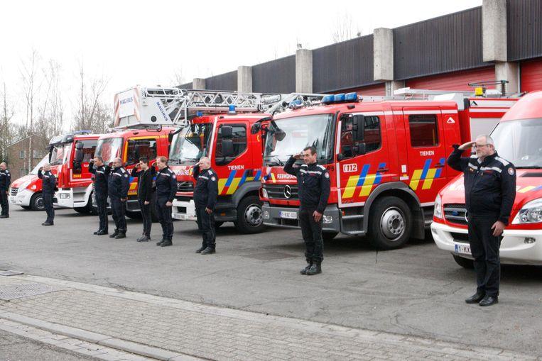 De brandweer van Tienen.