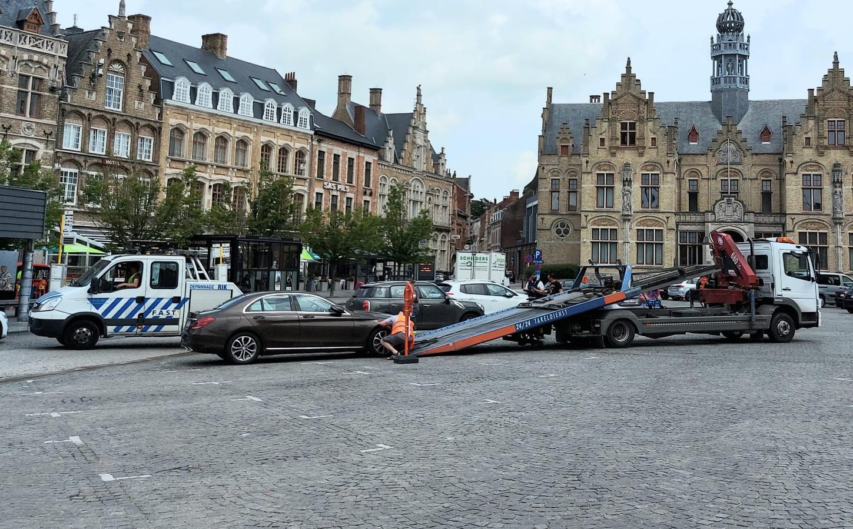 Enkele wagens moesten worden getakeld.