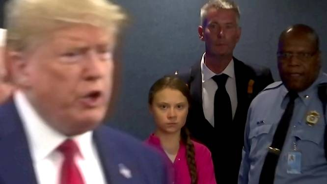 Greta Thunberg betaalt Trump met gelijke munt terug