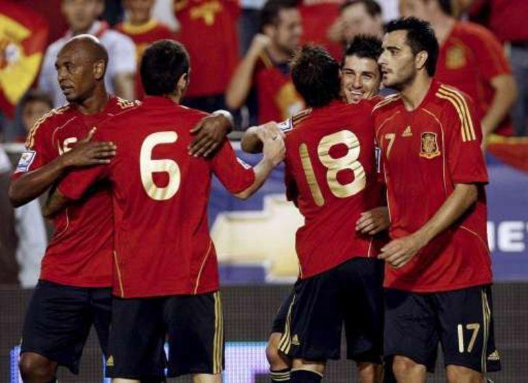 Spanje gaat door op zijn EK-elan: na winst tegen Bosnië, 4-0 tegen Armenië. Beeld UNKNOWN