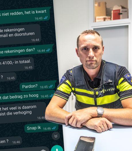 Oeps! Oplichter kiest verkeerde slachtoffer: Zwolse wijkagent deelt brutale appjes