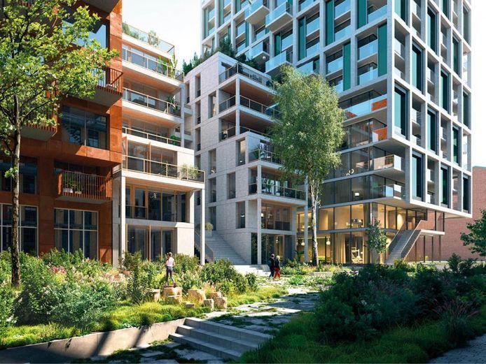 Impressie van het Nieuwe Rivium. Het bedrijventerrein in Capelle aan den IJssel wordt getransformeerd tot een nieuwe woonwijk met 5000 woningen in Capelle.