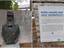 """""""Hal ne cède pas au vandalisme"""": le buste endommagé de Leopold II remis dans le parc de la ville"""