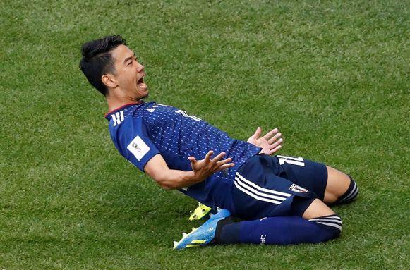 Shinji Kagawa zet Japan op voorsprong.