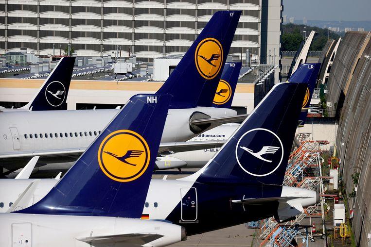 Luchtvaartmaatschappij Lufthansa is weer terug in de DAX, de hoofdgraadmeter van de beurs van Frankfurt. Beeld Reuters,  Kai Pfaffenbach