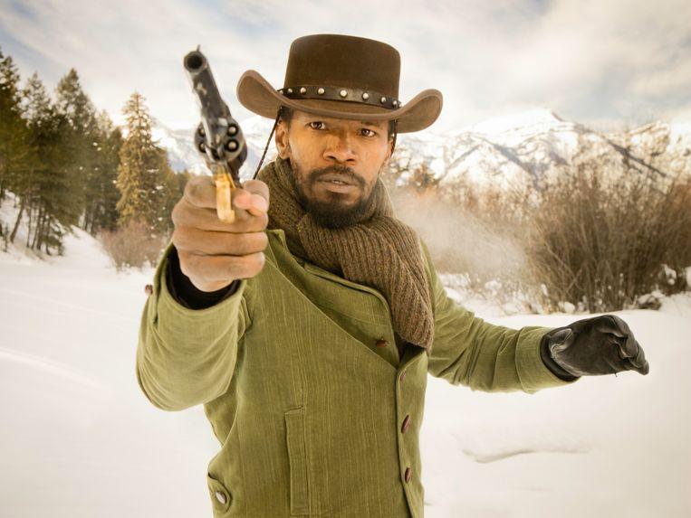 Jamie Foxx speelt de hoofdrol in 'Django Unchained'. Beeld rv